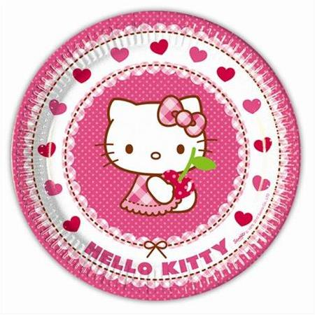 Hello Kitty Lisanslı Tabak 8'li